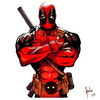 Deadpool Sketch 1 by Guidux92