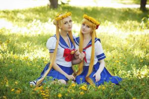 Minako Aino and Usagi Tsukino:Best friends by LoveSenshi