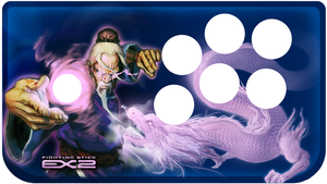 Fighting stick EX2 design by mqken
