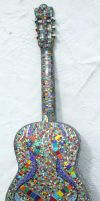 Back of guitar by Manicmosaics