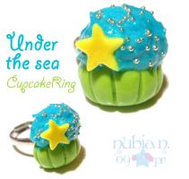 Under the Sea Cupcake ring by colourful-blossom