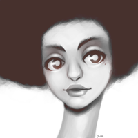 afro by junawashere