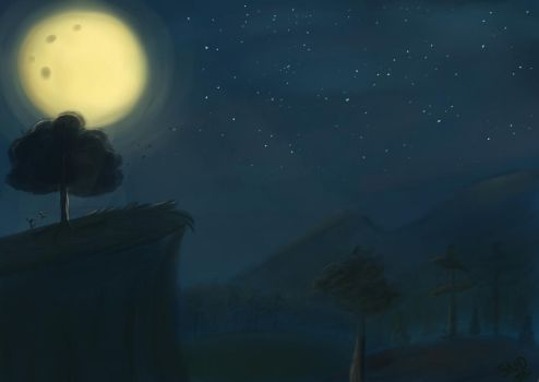 Night in the Forest by SnookieVonPink123