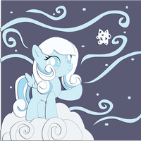 Commission:  Snowdrop Shadowbox Mock-up by The-Paper-Pony