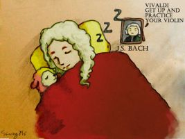 Vivaldi Get Up And Practice Your Violin by Rossi-Rosedeni