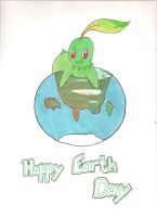 Chikorita Earth Day! by pl3th0ra