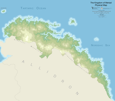 Topographic Map of Meriad by AlabasterRaven