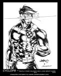 Inking Practice: Cyclops over Jimbo Salgado by Bright-Raven