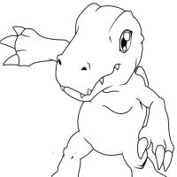 Agumon vector lineart by Spanish-Scoot
