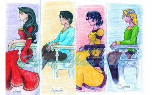Queen's Thief series - Kings and Queens by Kaze-Chan
