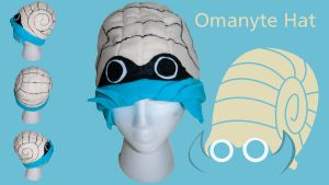 Omanyte Pokemon Hat by Demi-Plum