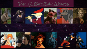 Top 12 Big Bad Wolves by JJHatter