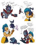 Human!Relic and Eclipse Doodles by SimonSoys