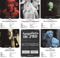 .psd template Harry Potter | Roleplay Resources by taxitoheaven