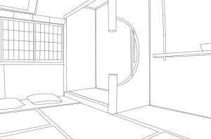 Vector Trace - Room lineart by hatirrisworldproject