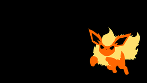 . Pokemon Wallpaper . Flareon . by Flows-Backgrounds