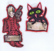 Trigun cosplay badges by Anarchpeace