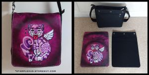 cheshire cat messenger bag by starplexus