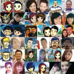 Compilation of caricature by k-hots