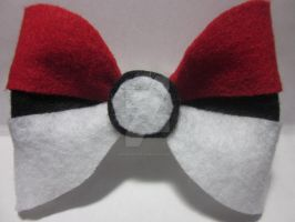 Pokeball Hairbow by Darklunax110