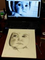 Work In Progress- Pencil Portrait by TolietWandXTreme