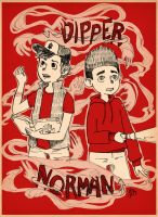 Norman and Dipper united by AnonymousPlatypus