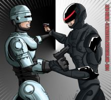 Robocop vs Robocop 2014 by ultimatejulio