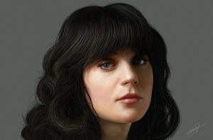 Zooey ( Digital Portrait ) by isaiahpaulcabanting