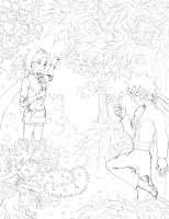 NaruSaku: Forest by Demihero