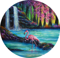 Flamingo Falls by AnnMarieBone