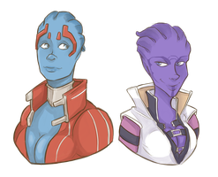 asari: Samara and Aria by I-Zet