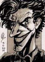 5/11/2014 Daily Sketch Card - Joker by tbeistel