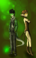 Mori and Pixie by LivingAliveCreator