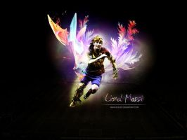wall messi in photofiltre by DubleD