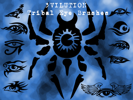 Tribal Eye Brushes by 3VILUTION