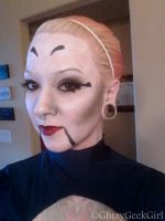 Asajj Ventress - Makeup by glitzygeekgirl