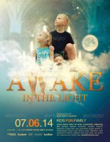 Awake in the Light Church Flyer Template by loswl