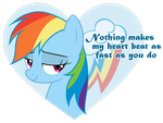 Rainbow Dash Valentine by JennieOo