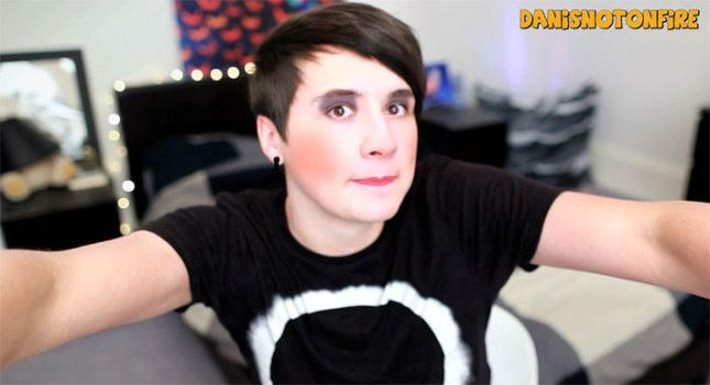 Danisnotonfire makeup XD by Ilikepenguinsforever