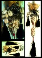 Tribal Cowry Shell Tassels by kungfubellydancer