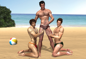 Beach Hunks Best Buds 6 Briefs by KevIzz
