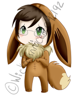 Alan Humphries Eeevee Chibi by Illogicat