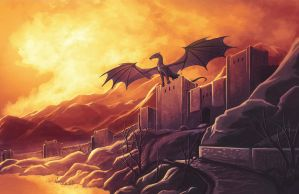Evening Flight - Temeraire by Chromamancer
