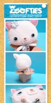 ZOOFTIES - White Kitty details by Nestery