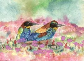 ACEO Colorful Soulmates by HeartSoulLifePassion