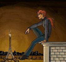 Bill Weasley: Rooftop by The-Starhorse