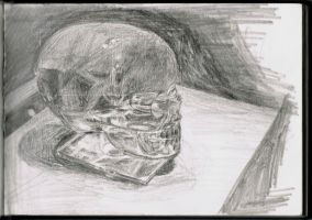 Rock crystal skull by iMAGGInary
