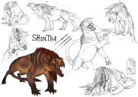 Shontea Sketch Dump by Teggy