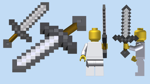 LEGO Minecraft Sword by mingles