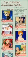 Top 10 Hottest Animated Chicks by rocketdave